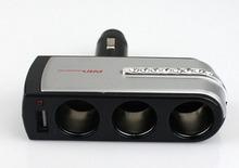 1-to-3 Cigarette Lighter Power Splitter with USB Output (DC12/24V)