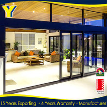 4 panel aluminum sliding door / entertainer sliding doors / entry doors glass australian