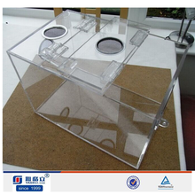 Wholesale custom clear acrylic reptile cage/display box,acrylic reptile terrarium with lock and key