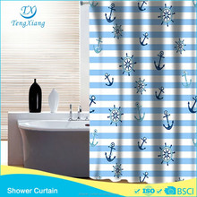 Fancy Style Printing Polyester Fabric Shower Curtain