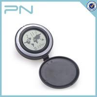 Round Plastic Folding Travel Alarm Clock
