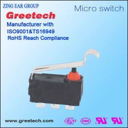 2015 hot sale zing ear ENEC CQC UL certificated waterproof electric limit micro switch