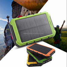 Sunpower 5000mah 10000mah power bank solar cell phone battery charger