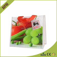 Wholesale AI PAI Reusable Handled Shopping promotional laminated 200pcs/ctn non woven tote bag