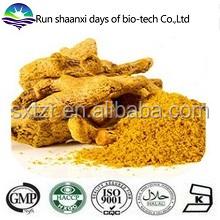 Natural curcumin powder 95% / wenchow turmeric root tuber extract powder / curcumin longa