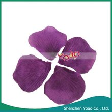 Dark Purple Silk Rose Petals Wedding Flowers,Party Petals Rose Artificial Decoration
