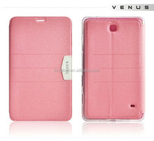 Good prices flip cover leather case for samsung galaxy tab 4 t230 t231 t235 case