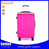2015 Ladies travel bag ABS PC hot sale luggage bag beautiful shinning luggage trolley bag