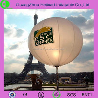 Outdoor commercial advertising pvc inflatable led stand balloon for sale