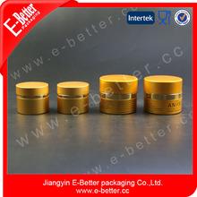 7g,15g,20g,30g,50g and 60g aluminum outside, glass inner double wall jar