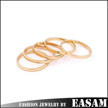 Love from the star simple gold plated O ring/couple ring