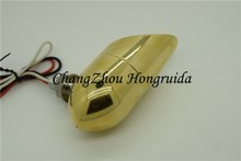 retro Amber Mini Bullet BRASS Turn Signal lights for yamaha motorcycle