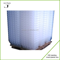 recyclable PP corrugated plastic case with foldable lid