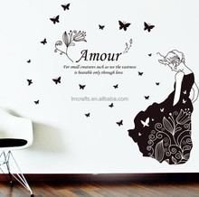 "130x120cm (51""x47"") Betturfly Amour Wall Stickers Wall Decoration Living Room Adesivo de Parede Vinilo Home Decor JM7191"