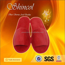 Hot! Red Terry Cloth Open Toe China Rubber Slipper
