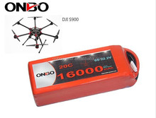 Gens Ace/Tattu 1958g 16000 mAh 20C 6S1P DJI S900 S1000 UAV dorne multicopter RC lipo battery pack