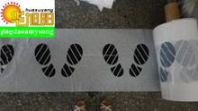 clear spots breaking disposable plastic car foot mat with one color printing