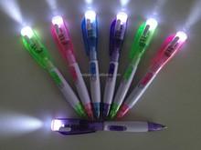 Plastic LED ballpoint pen/Ballpoint pen with LED Light