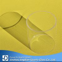 Thick wall transparent quartz glass cylinder tube