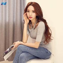 Lady New Fashion Korea Womens Halter Short Sleeve Slim Sexy Tops T-shirt