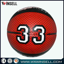 Hot promotional rubber basketball