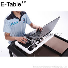 Foldable laptop stand with mouse pad