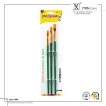 New Design 3Pcs Gold Ferrule Nylon Acrylic Paint Brush Set