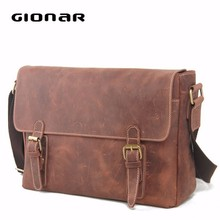 Hot Selling Wholesale Crazy Horse Leather Men Bag from Handbag Factory