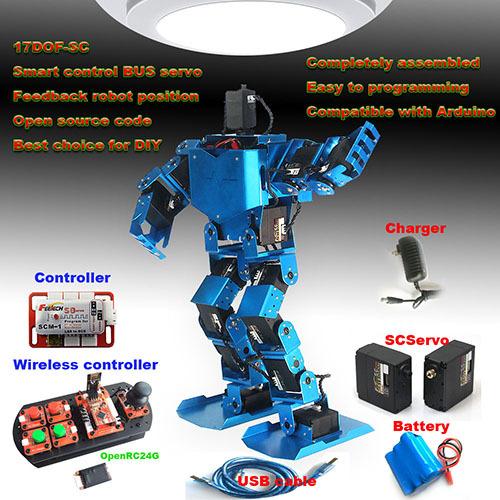 Programmable dof educational humanoid arduino robot kit