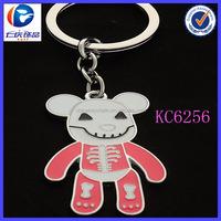 China Manufacturer Wholesale Custom Promotional Gift Bear Shaped Metal keyring