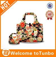 Fashion shopping bag pvc coated cotton shopping bag pp non woven shopping bag