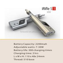 2015 new arrival IRifle S1, unique max vapor electronic cigarette hot sell,china wholesale e cigarette