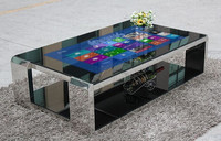 2015 Multitouch table ,Interactive Tea / Game / Bar / Coffee All in One Touch Table with Smooth Screen Interface ,