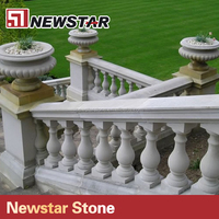natural stone granite baluster railing