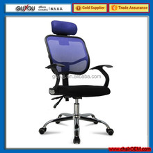 High Back Blue Swivel Mesh Office Chair Used Office Furniture Executive