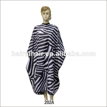 Large Size zebra custom printied professional salon hairdressing hair cape