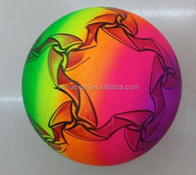 Hot selling rainbow PVC inflatable beach ball for kids baby pvc
