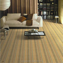 Guangzhou Supply stripe pattern commercial office or home used nylon 66 carpet tiles with PVC or PU backing
