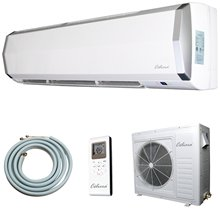 24000 BTU Ductless Mini Split Air Conditioner + Heat Pump - Indoor and Outdoor Units + Line Set + Installation Kit) - 220V 60Hz
