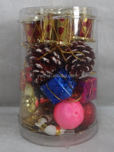 cheap christmas ornament christmas foam ball set in pvc tube christmas canister set