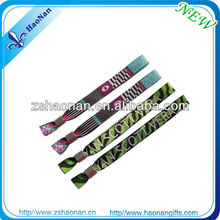 Fashion artificial handicraft woven wristband for holiday skiing events