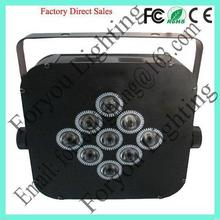 9*3w rgb 3 in 1 leds special hot-sale rgb aluminum led par light par can stage dj party light wedding
