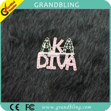 Rhinestone brooch unique gift custom jewelry Greek AKA / DIVA letter Pin