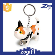 ZOGIFT Cute Cat Kitten with Bell Key Chains Keychain