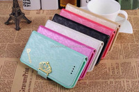 Fashion Crown Series New Arrival Flip Leather Case Cover For Apple iPhone 5 5s