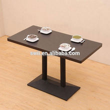 high gloss 2 person dining table with solid wood from JL&C furniture lastest designs 2014 (China supplier)