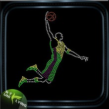 Basketball Player Rhinestone Transfer For T-shirt