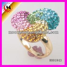 2014 nuevo diseño de moda LADIES anillo de dedo, color de alta calidad Rhinestone mujeres <span class=keywords><strong>al</strong></span> <span class=keywords><strong>por</strong></span> <span class=keywords><strong>mayor</strong></span> ANILLO