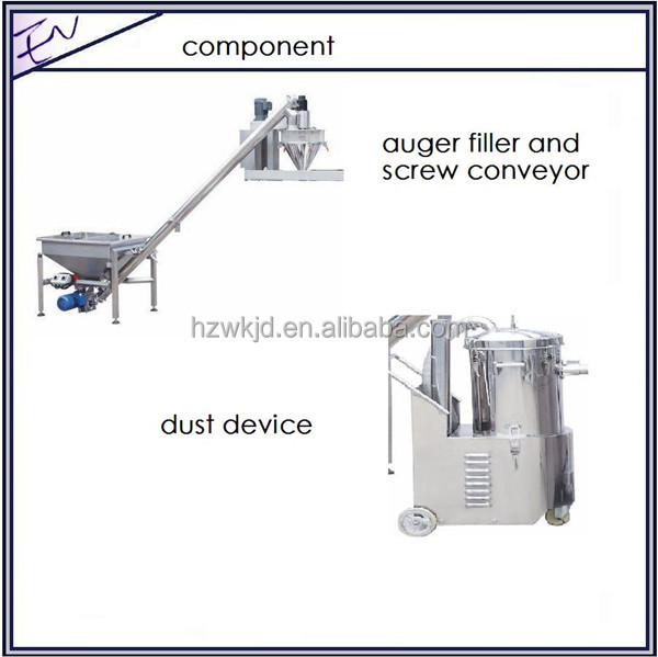 Full automatic cocoa powder zipper bag filling packaging machine