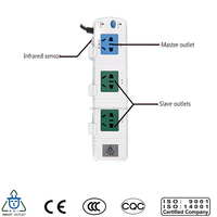 infrared sensor smart switch 3 power surge protectors power outlet